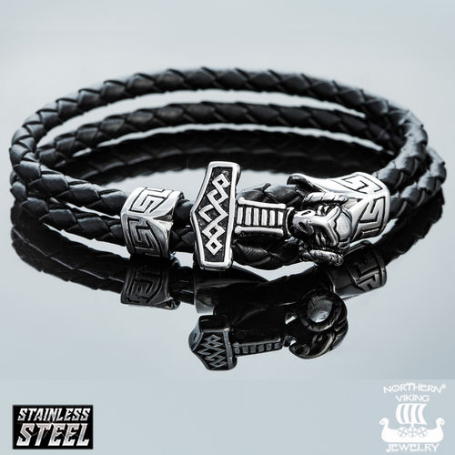 "Northern Viking Jewelry®-Bracelet ""Thor's Hammer"""
