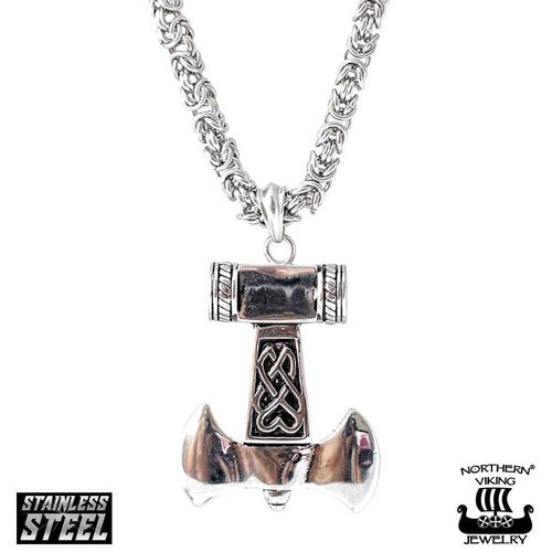 Northern Viking Jewelry® Thor's Hammer With Kingchain