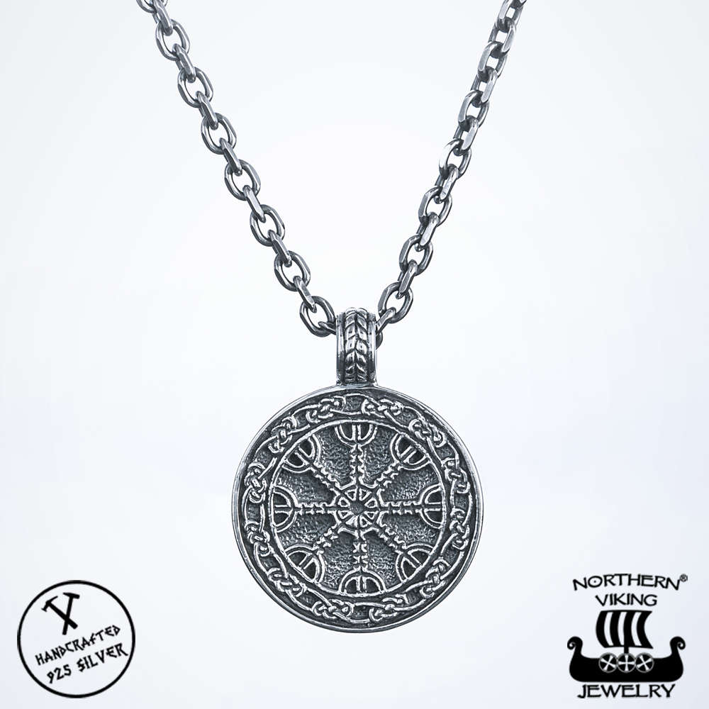 Viking jewelry 925 silver helm of awe pendant northern viking jewelry 925 silver helm of awe pendant aloadofball Images