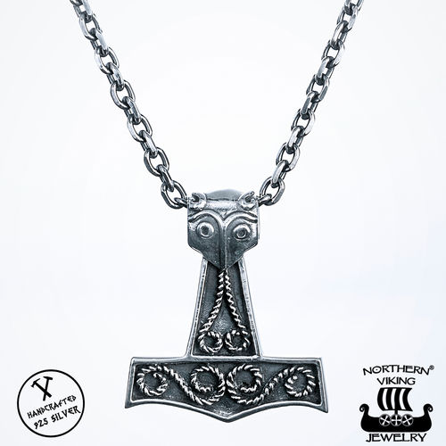 Northern Viking Jewelry® 925 Scandinavian Raven Thorin Vasara