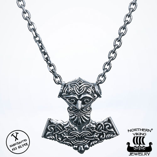 Northern Viking Jewelry® 925-Hopea Odin Thorin Vasara