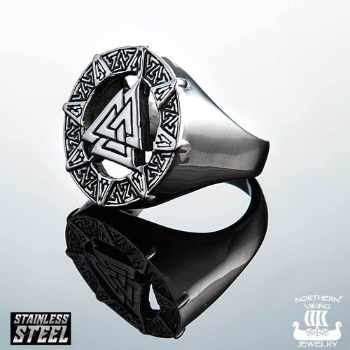 "Northern Viking Jewelry-Sormus ""Valknut Odin Symbol"""