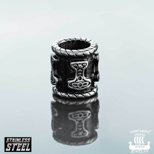 "Northern Viking Jewelry®-Partakoru ""8 mm Black Thor"""
