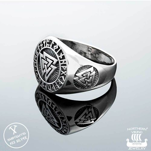 925-Hopea Valknut-Sormus, Northern Viking Jewelry
