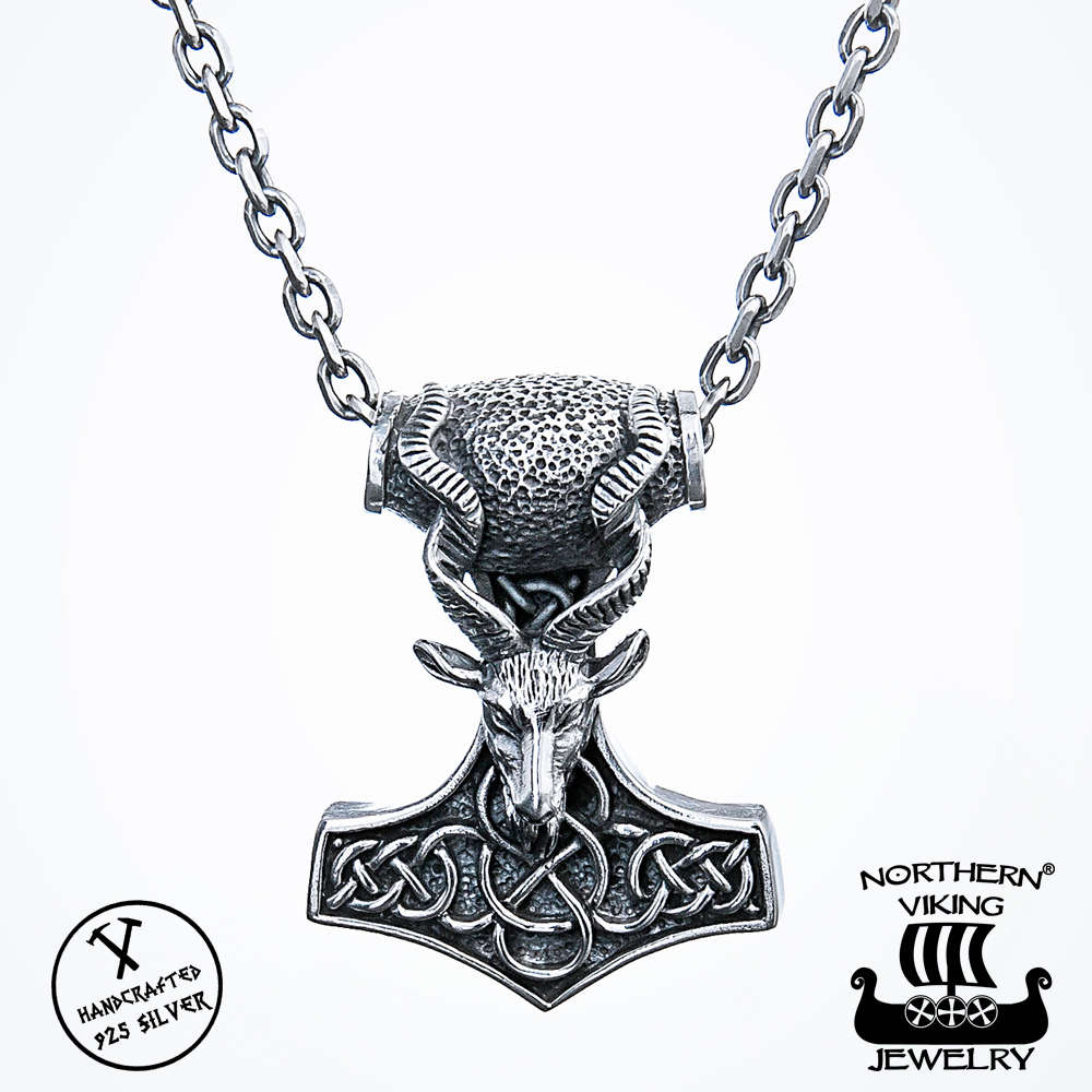 ms p product son thor medium pendant on hammer chain htm tribal medieval penthor
