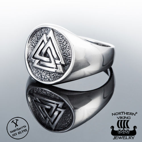 925-Silver Plain Valknut Ring, Northern Viking Jewelry®