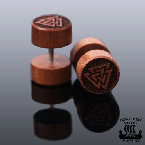 "Northern Viking Jewelry®-Korvakorut ""Teak Valknut"""