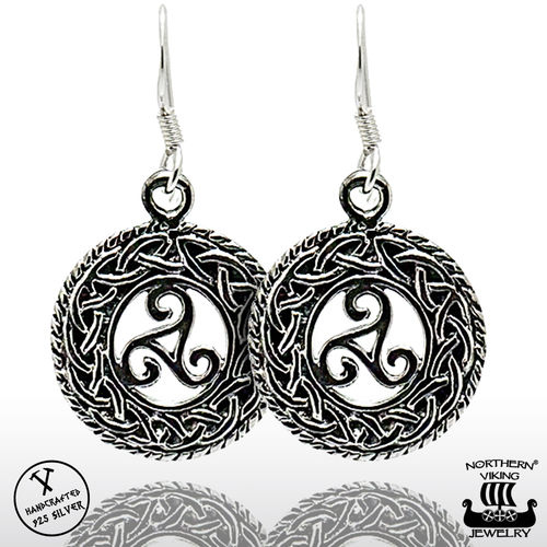 "Northern Viking Jewelry® ""925 Triskele Earrings"""