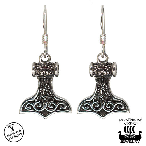Northern Viking Jewelry® 925 Thorin Vasara Koukkukorvakorut
