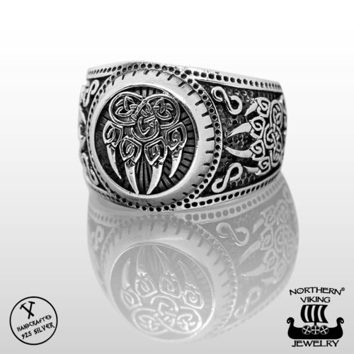 925-Hopea Karhun Käpälä Sormus, Northern Viking Jewelry®