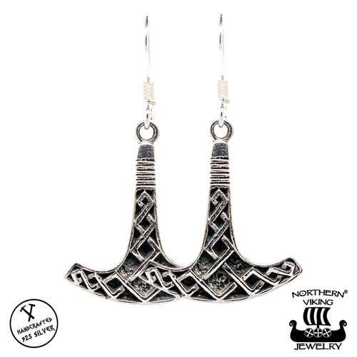 "Northern Viking Jewelry® ""925 Korvakorut Ukonvasara By Johan Thorolf"