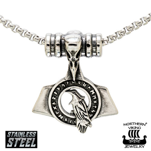 "Northern Viking Jewelry®-Riipus ""Riimu Raven Thorin Vasara"""
