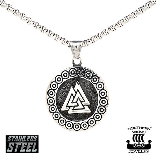 "Northern Viking Jewelry® Pendant ""Steel Valknut"""