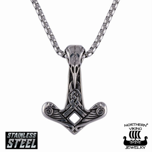 "Northern Viking Jewelry®-Riipus ""Raven Skull Hammer"""
