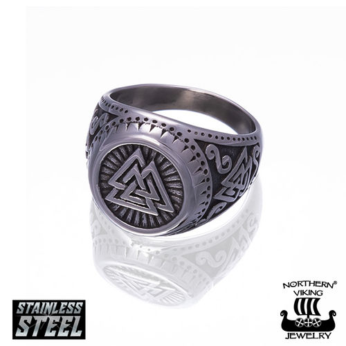 "Northern Viking Jewelry®-Sormus ""Shield Valknut"""