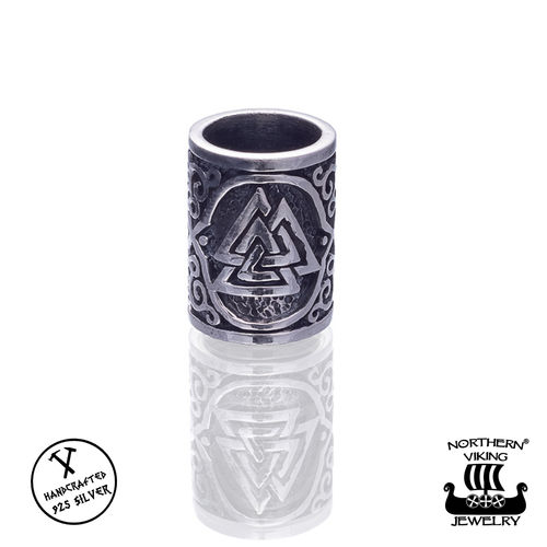 "Northern Viking Jewelry®-Partakoru ""Silver Valknut"""