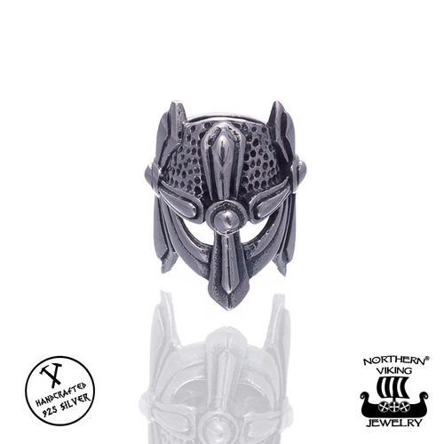 "Northern Viking Jewelry®-Partakoru ""Silver Viking Helmet"""