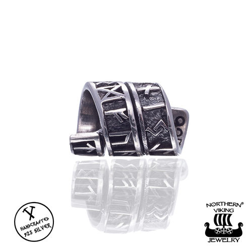 "Northern Viking Jewelry®-Partakoru ""Silver Long Rune"""