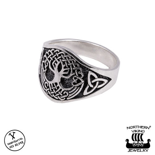 "Northern Viking Jewelry® Naisten Hopeasormus ""Tree Of Life"""