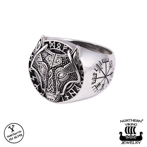 925-Silver Guardian Wolf Ring, Northern Viking Jewelry®